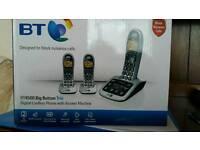 BT Three Handset telephones