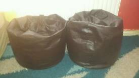 Leather beanbags