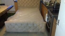 Double bed with a foam mattress £150