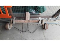 Heavy Duty ALKO 1000kg Braked Trailer Axle ideal Large Motorcycle like Harley Goldwing etc