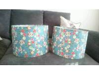 A pair of retro style lightshades