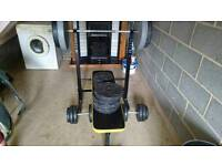 Weights Bench With Dumbells