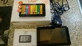 Lava portable tablet boxed £8