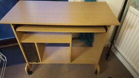 Beech wood computer desk