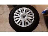 VOLKSWAGEN CADDY STEEL WHEELS AND TRIM SET OF 4 (ONLY DONE 3,500 MILES)