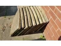14 x Garden Slabs patio paving circular