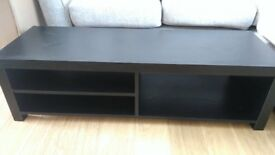 Black Wood Finish TV Unit