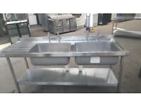 Stainless steel Double Sink Commercial Catering Sink 07581355131