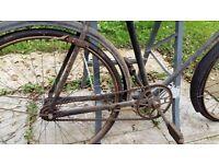 "HERCULES 1920/1930s Man's cycle 26"" x 1.3/8"" Needs restoration work."