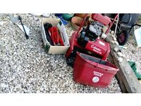 Q ualcast Suffolk Punch petrol mower and scarifier