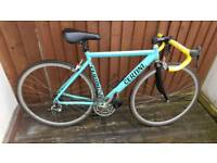 Certini Italian road racing bike with campagnolo shifters and brakes , lightweight and fast !!