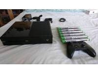Xbox One with 9 games (CONTROLLER NOT FULLY WORKING)