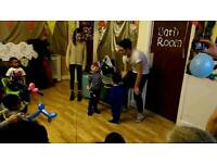 Magician, dj, scientist and baloon modeling avalible for kids events entertainer and party's
