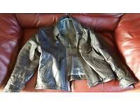 Cafe racer old school leather bike jacket