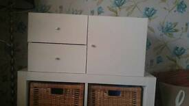 Ikea kallax boxes (not the unit!)x 2 cupboard & draws in white
