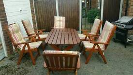 Table & six chairs with chair covers goodmays ilford
