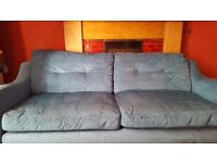 Beautiful 3-seater blue/teal couch only £100