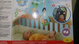 Fisher-Price Precious Planet 2-In-1 Wind Up Mobile cot / pushchair pram
