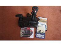 MS Flight Simulator DVD (Gold Edition) and Black Widow Flight Stick