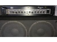 Ampeg B5R 500w Rackmount Bass Amp, BSE410HLF 400w Cab & Footswitch