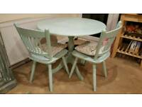 Country style/ shabby chic dining table with 3 chairs