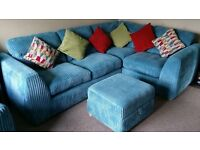 3 piece coner suite with cushions in very good condition. non smoking and pet free home.