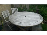 FREE large garden table and chairs