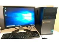 Dell Optiplex 790 i7 Desktop PC W10 inc. Monitor, keyboard & mouse
