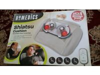 HoMedics Shiatsu Cushion with Remote Control - Cream in Box. 100% Brand New and Genuine