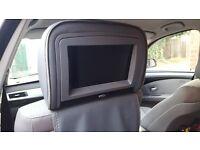 """2X 9"""" CAR HEADREST DIGITAL DVD MONITOR PLAYER HDMI PORT GAME IR FM DUAL GREY UK"""