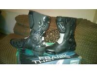 Frank Thomas motorbike boots size 10