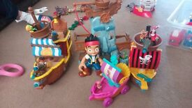 Jake and neverland pirates, Boat and skull rock plus more...