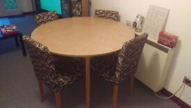 Bargain! Wooden dining table and 4 chairs! Great condition! Bargain! Collection Only! Offers taken!