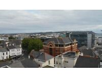 Modern two bed top floor flat with lovely views across the City of Plymouth.
