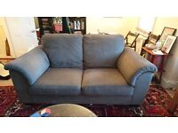 2 Seater Ikea Sofa, Grey, Good Condition