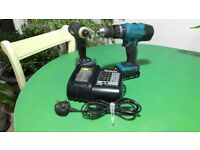 Makita 18V Twin Pack Impact Drive BTD146, Combi Drill BHP453 with 2x 1.5mA Batteries and Charger.