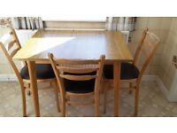 Small formica kitchen table and 3 chairs - free