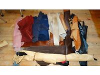 LEATHER OFFCUTS JOB LOT MIXED COLOURS