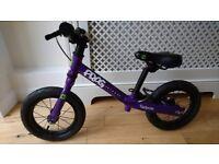 Frog Tadpole balance bike purple