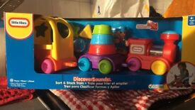 BRAND NEW sort & stack little tikes train