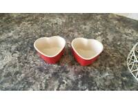 2 Le Creuset Heart Dishes