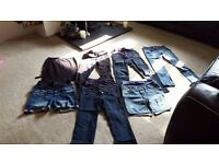 Size 8 ladies maternity denim bundle - all the denim you need for your pregnancy!