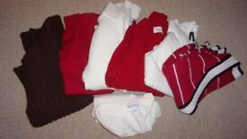 Selection of 7 lady cardigans :United colors of Benetton,AnnTaylor,White,Batu