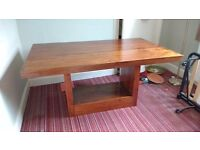 Beautiful exotic hardwood dining table