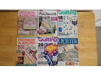 Patchwork/Quilting Magazines x 6