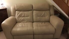 Leather Sofa, 2 seater, 2 recliners, beautifully comfortable, under 2 years old. Real bargain!
