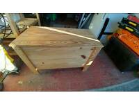 Wooden toy chest