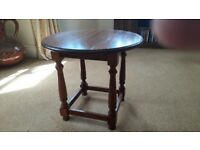 Ercol solid wood round coffee table in good condition