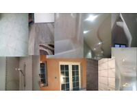 plastering, tiling, painting, dry- lining, suspended ceilings, laminate floors, multi-trade, joinery