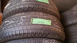 Set of two tires size 235 65 17 for sale